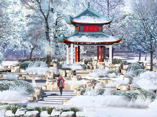 winter pavilion southern china garden