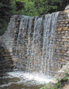 restored waterfall